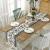 Bateruni Geometrisch Tischläufer, Grau Modern Schwarz Weiß Tischwäsche Matte, Faltenfrei rutschfest Tischband Dekoration für Esszimmer Party Urlaub 35x180cm - 2