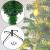 BB Sport Christbaum Weihnachtsbaum 240 cm Mittelgrün PVC Tannenbaum Künstlich Standfuß Klappsystem - 3