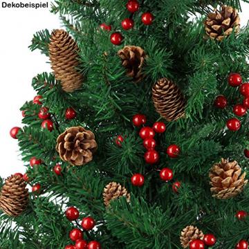 BB Sport Christbaum Weihnachtsbaum 240 cm Mittelgrün PVC Tannenbaum Künstlich Standfuß Klappsystem - 4