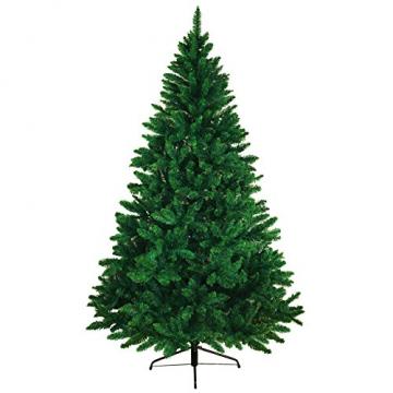 BB Sport Christbaum Weihnachtsbaum 240 cm Mittelgrün PVC Tannenbaum Künstlich Standfuß Klappsystem - 1