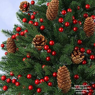 BB Sport Luxus Christbaum 120 cm Dunkelgrün künstlicher Weihnachtsbaum PE/PVC Spritzguss Mix Tannenbaum Standfuß - 4