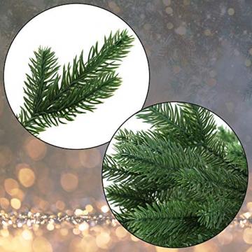 BB Sport Luxus Christbaum 150 cm Dunkelgrün künstlicher Weihnachtsbaum PE/PVC Spritzguss Mix Tannenbaum Standfuß - 2