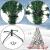 BB Sport Luxus Christbaum 150 cm Dunkelgrün künstlicher Weihnachtsbaum PE/PVC Spritzguss Mix Tannenbaum Standfuß - 3