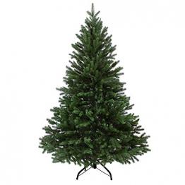 BB Sport Luxus Christbaum 150 cm Dunkelgrün künstlicher Weihnachtsbaum PE/PVC Spritzguss Mix Tannenbaum Standfuß - 1