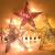 Benoon Weihnachtsbaumspitze Ornamente Dekor 3D Effektive Solide Schmiedeeisen Weihnachtsbaum Rattan Stern Topper für Party für Zuhause für Küche Golden 15cm - 4