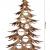 Bergliebe Dekobaum Weihnachtsdekoration Weihnachtsbaum Christbaumkugeln rustikal Vintage geflammtes Holz 103.5x58 cm Pohmer Design - 2
