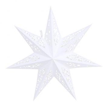 BESPORTBLE 45CM Papierstern Lampe Papier Weihnachtssterne mit Beleuchtung 3D Leuchtstern Fensterdeko Stern Weihnachten Beleuchtet Christbaumspitze für Weihnachtsbaum Deko - 1