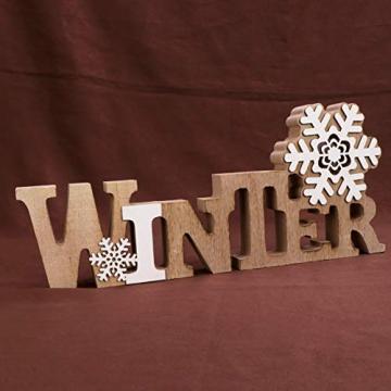 BESPORTBLE Schriftzug Weihnachten Holz Winter Beleuchtet Schneeflocke Tischdeko Nachtlicht Schreibtischlampe Schlafzimmer Nachtlampe Weihnachtsdekoration Party Festival Geschenk - 7