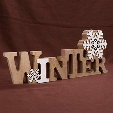 BESPORTBLE Schriftzug Weihnachten Holz Winter Beleuchtet Schneeflocke Tischdeko Nachtlicht Schreibtischlampe Schlafzimmer Nachtlampe Weihnachtsdekoration Party Festival Geschenk - 9