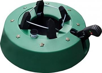 Brandsseller Christbaumständer Weihnachtsbaumständer Tannenbaumständer mit Fußhebeltechnik, EIN-Seil-Technik und Sicherung - 34x34cm/4,2kg für Bäume bis zu 2,5m - Farbe: Grün - 1