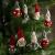 Brubaker 10-teiliges Set Weihnachtswichtel aus Holz und Strick - Baumanhänger Weihnachtsanhänger - 8 cm in Geschenkbox - 2