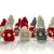 Brubaker 10-teiliges Set Weihnachtswichtel aus Holz und Strick - Baumanhänger Weihnachtsanhänger - 8 cm in Geschenkbox - 3