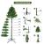 Busybee 210cm Künstlicher Weihnachtsbaum mit beleuchtung 400 LEDs und Ornamenten Reine Champagner-Weihnachtsdekoration, einschließlich voller künstlicher Christbaumkugeln - 4