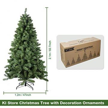 Busybee 210cm Künstlicher Weihnachtsbaum mit beleuchtung 400 LEDs und Ornamenten Reine Champagner-Weihnachtsdekoration, einschließlich voller künstlicher Christbaumkugeln - 7