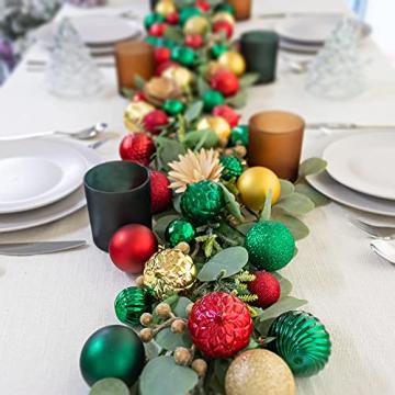 Busybee weihnachtskugeln 34 Stücke 6CM Ornamente für Weihnachtsbaum Gold Christbaumkugeln Weihnachtsdekoration Kugeln - 2