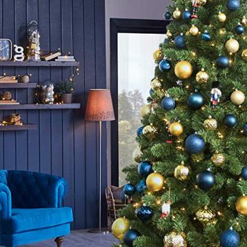 Busybee weihnachtskugeln 34 Stücke 6CM Ornamente für Weihnachtsbaum Gold Christbaumkugeln Weihnachtsdekoration Kugeln - 6