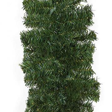 Casaria Weihnachtsgirlande 10m geschmückt 160 LEDs Girlande inkl. Deko Weihnachten Innen Außen IP44 Tannengirlande weiß - 5