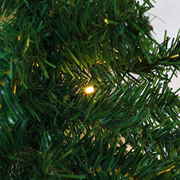 Casaria Weihnachtsgirlande 10m geschmückt 160 LEDs Girlande inkl. Deko Weihnachten Innen Außen IP44 Tannengirlande weiß - 8