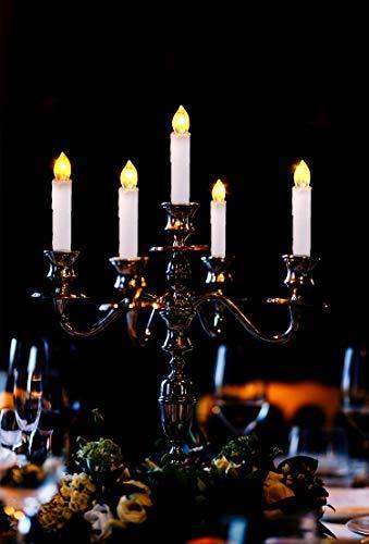 CCLIFE LED Weihnachtskerzen Kabellos Kerzen Weihnachtsbaumkerzen Christbaumkerzen mit Fernbedienung Timer Kerzenlichter, Farbe:30er Weiss - 7