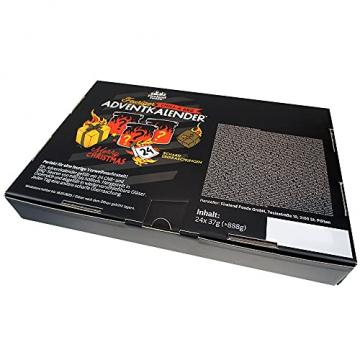 Chili- und BBQ-Adventskalender mit 24 Produkten | von mild bis höllisch | Geschenk für Advent und Weihnachten | Geschenk für Männer | Version mit Türchen | 880g (24x37g) - 4