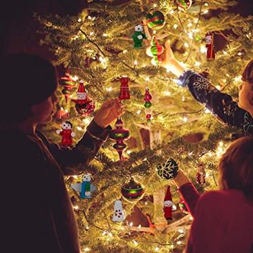 Christbaumanhänger Wunderschöner Holz Baumbehang als 48er Set Weihnachtsbaumschmuck Deko-Anhänger Miniatur Ornamente Baumschmuck Holzanhänger Hänger Holz Weihnachten handbemalt Christbaum-Anhänger - 4