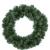 Christmas-Decorations Tannenkranz Türkranz Weihnachtskranz künstlicher Deko Kranz Adventskranz grün (35cm) - 1