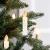 Clanmacy 20 Stück LED Weihnachtskerzen kabellos, Dimmbar Flammenlose Kerzenlichter mit Fernbedienung Timer, warmweiß Christbaumkerzen für Weihnachtsdeko Hochzeit Geburtstags Party - 2