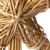 com-four® Christbaumspitze als Weihnachtsbaumschmuck aus Stroh - Strohstern-Spitze für den Weihnachtsbaum - Christbaum-Schmuck - natürlicher Christbaum-Behang - 4