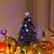 COSTWAY 90/120/150/180 LED Künstlicher Weihnachtsbaum mit Glasfaser-Farbwechsler und Sternspitze, Tannenbaum PVC Nadeln, Christbaum ideal für Zuhause, Büro, Geschäfte und Hotels, Grün (120cm) - 2