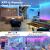 Cozylady Bluetooth LED Strip 15m, Smart APP Steuerbar Musik LED Lichterkette Farbwechsel LED Streifen, 5050 RGB LED Leiste mit Netzteil und Fernbedienung - 2