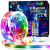 Cozylady Bluetooth LED Strip 15m, Smart APP Steuerbar Musik LED Lichterkette Farbwechsel LED Streifen, 5050 RGB LED Leiste mit Netzteil und Fernbedienung - 1