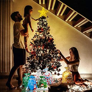 CUIFULI Weihnachtsbaum Stern, 1 STÜCK Christbaumspitze Stern Tannenbaum Spitze Warmweiß 10 LED für Feiertags-Dekorationen - 9