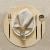 DAPU Leinenservietten Stoffservietten 6-er Set, 45x45 cm 100% französischer Leinen Servietten Stoff, Abwaschbare Servietten mit Hohlsaum Beige/Naturleinen - 1