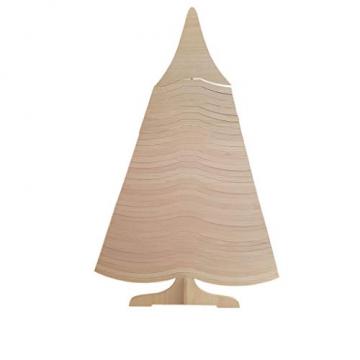 DEKO AS Tannenbaum - Holz-Dekotanne Natur - Weihnachtsbaum - Holz (Größe: 120x80 cm, Zeitloses Design, Adventskalender, Christbaum, aufstellbar in Zwei Varianten, unkomplizierter Aufbau), Natur 20120 - 2