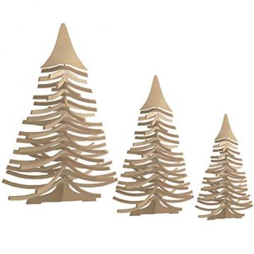 DEKO AS Tannenbaum - Holz-Dekotanne Natur - Weihnachtsbaum - Holz (Größe: 120x80 cm, Zeitloses Design, Adventskalender, Christbaum, aufstellbar in Zwei Varianten, unkomplizierter Aufbau), Natur 20120 - 3