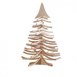 DEKO AS Tannenbaum - Holz-Dekotanne Natur - Weihnachtsbaum - Holz (Größe: 120x80 cm, Zeitloses Design, Adventskalender, Christbaum, aufstellbar in Zwei Varianten, unkomplizierter Aufbau), Natur 20120 - 1