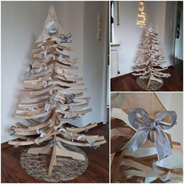 DEKO AS Tannenbaum - Holz-Dekotanne Natur - Weihnachtsbaum - Holz (Größe: 120x80 cm, Zeitloses Design, Adventskalender, Christbaum, aufstellbar in Zwei Varianten, unkomplizierter Aufbau), Natur 20120 - 6