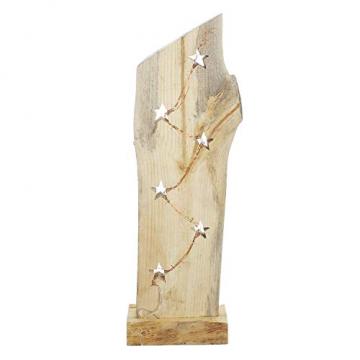 """Deko Objekt """"Sternenleuchten"""" aus Holz, 53 cm hoch, mit LED Lichterkette, Batterie-betrieben, Skulptur - 4"""