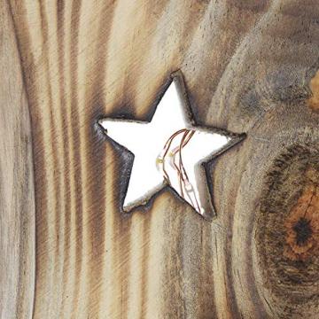 """Deko Objekt """"Sternenleuchten"""" aus Holz, 53 cm hoch, mit LED Lichterkette, Batterie-betrieben, Skulptur - 5"""