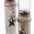 """Dekoleidenschaft 2X Windlichtsäule """"Stern"""" aus Holz und Glas, Teelichthalter im Shabby Look, Kerzenständer, Adventsdeko - 4"""