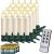 Deuba 20x Weihnachtskerzen LED weiß kabellos mit Batterie Fernbedienung Timer Flackern Dimmbar Christbaumkerzen kabellos - 1