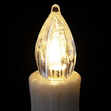 Deuba 30x LED Weihnachtsbaumkerzen kabellos weiß Fernbedienung Timer Flackern Dimmbar Christbaumkerzen Weihnachtskerzen - 9