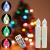 DIWIWON 30er Weinachten LED Kerzen Christbaumkerzen mit Fernbedienung Kabellos Dimmen Flackern Baumkerze-RGB - 4