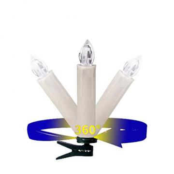DIWIWON 30er Weinachten LED Kerzen Christbaumkerzen mit Fernbedienung Kabellos Dimmen Flackern Baumkerze-RGB - 6