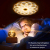 DUTISAN Kristallkugel Spieluhr, 360° Rotierende hölzerne Spieluhr mit Licht, Beleuchtete Projektionsfunktion, Geschenk für Weihnachten, Erntedankfest, Geburtstag, Valentinstag, Muttertag - Asteroid - 3