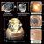 DUTISAN Kristallkugel Spieluhr, 360° Rotierende hölzerne Spieluhr mit Licht, Beleuchtete Projektionsfunktion, Geschenk für Weihnachten, Erntedankfest, Geburtstag, Valentinstag, Muttertag - Asteroid - 4