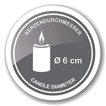 EDZARD Adventskerzenhalter Milano Silber, Messing vernickelt, modernes AST-Design, Länge 44 cm, Adventskranz für Kerzen Durchmesser 6 cm, Perfekt für Cornelius Kerzen - 8
