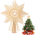 EKKONG Baumspitze Stern, Baumspitze Weihnachten aus Stroh Natur Christbaumspitze Weihnachtsbaumspitze Handgemachter Weihnachtsbaumschmuck für Jeder Größe Weihnachtsbäume - 1