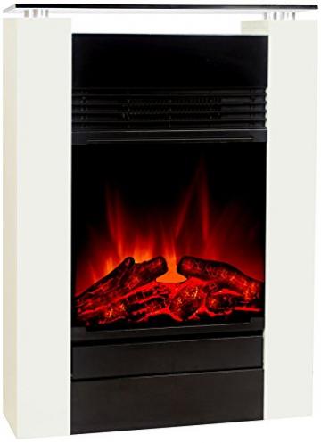 El Fuego Tessin weiß Elektrokamin mit täuschend echtem Flammeneffekt, 1800 W, 230 V - 2