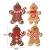 Elionless Weihnachtsbaumschmuck, 12 Stück, traditioneller Ingwer Mann, Weihnachtsbaumschmuck zum Aufhängen, Charms (Lebmann B) - 4